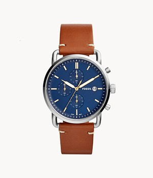 The Commuter Chronograph Light Brown Leather Watch