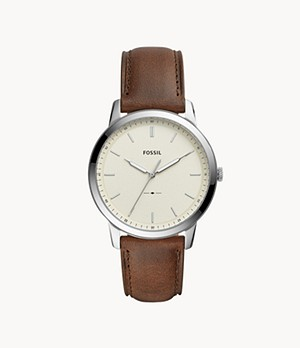 Herrenuhr The Minimalist Leder Braun