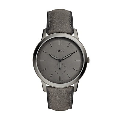 The Minimalist Two-Hand Gray Leather Watch