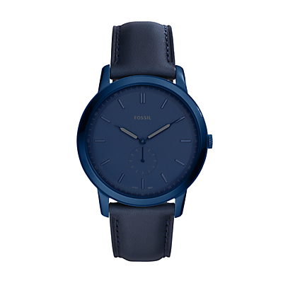 The Minimalist Two-Hand Indigo Blue Leather Watch