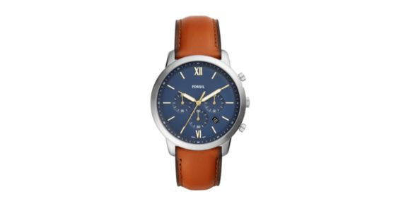f650af72641 Neutra Chronograph Brown Leather Watch - Fossil