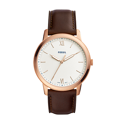 The Minimalist Three-Hand Java Leather Watch