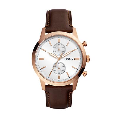Townsman Chronograph Java Leather Watch