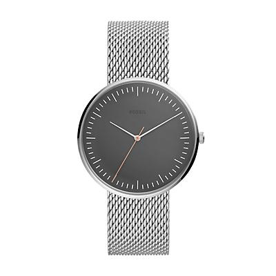 Essentialist Three-Hand Silvertone Stainless Steel Watch