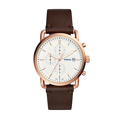 Commuter Chronograph Java Leather Watch