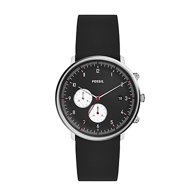 Chase Timer Chronograph Black Silicone Watch