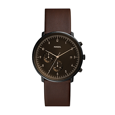Chase Timer Chronograph Whisky Leather Watch