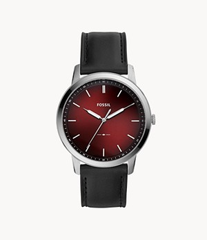 Herrenuhr The Minimalist - Leder - Schwarz