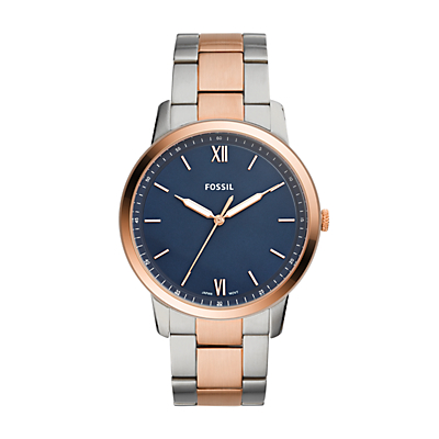 The Minimalist Three-Hand Two-Tone Stainless Steel Watch