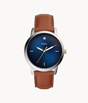Herrenuhr The Minimalist Carbon Series Leder Braun
