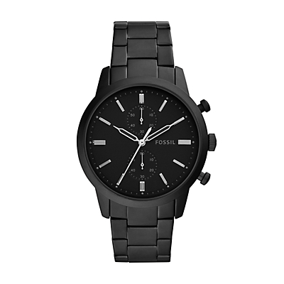 Townsman Chronograph Black Stainless Steel Watch