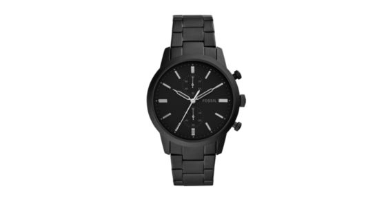 5deed87a2 Townsman Chronograph Black Stainless Steel Watch - Fossil