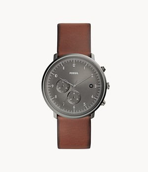 Chase Timer Chronograph Amber Leather Watch