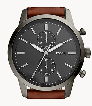 Townsman Chronograph Amber Leather Watch