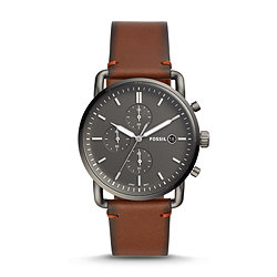 a7c020a8f The Commuter Chronograph Amber Leather Watch