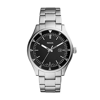 Belmar Three-Hand Date Stainless Steel Watch