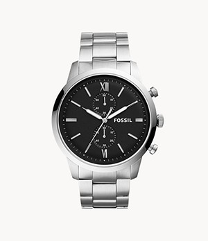Townsman Chronograph Silver-Tone Stainless Steel Watch