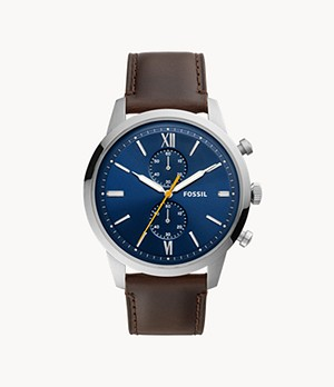 Townsman Chronograph Brown Leather Watch