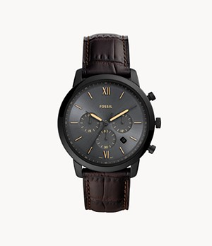 Neutra Chronograph Brown Leather Watch