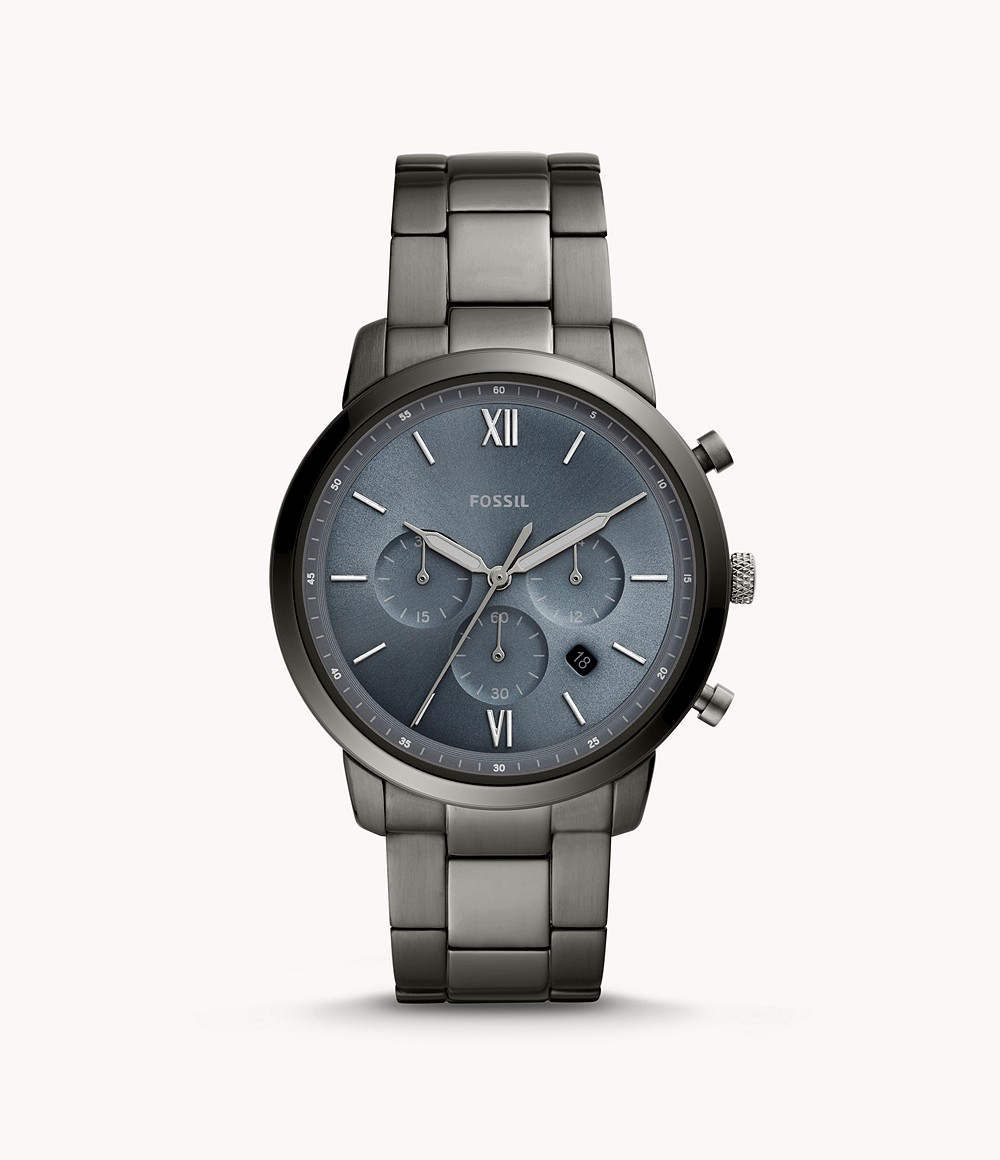 Neutra Chronograph Smoke Stainless Steel Watch - FS5581 - Fossil