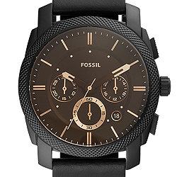 a00660425f601c Cronografo Machine con cinturino nero in pelle