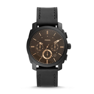 9f03e08ace6799 Cronografo Machine con cinturino nero in pelle