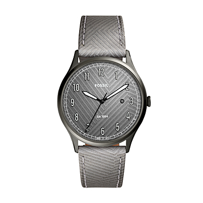 Forrester Three-Hand Date Reflective Camo Leather Watch