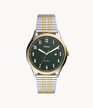 Forrester Three-Hand Date Two-Tone Stainless Steel Watch