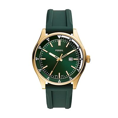 Belmar Three-Hand Date Dark Green Silicone Watch