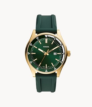 Belmar Three-Hand Date Dark Green Silicone Watch