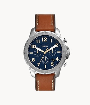 Bowman Chronograph Luggage Leather Watch