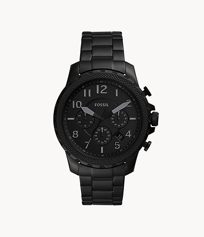 Bowman Chronograph Black Stainless Steel Watch - FS5603 - Fossil