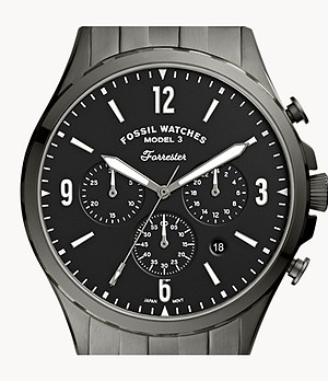 Forrester Chronograph Smoke Stainless Steel Watch