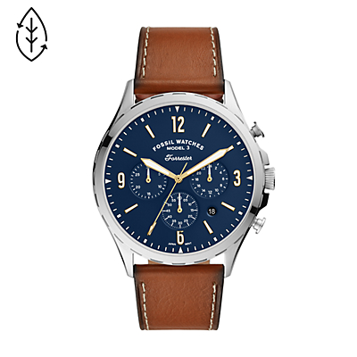 Forrester Chronograph Luggage Leather Watch