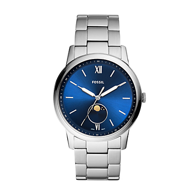 The Minimalist Moonphase Multifunction Stainless Steel Watch