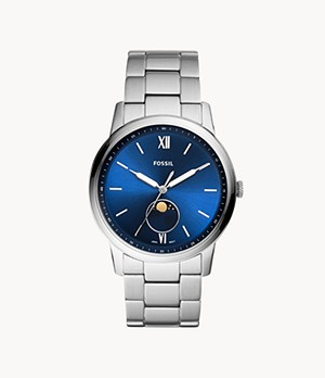 REFURBISHED The Minimalist Moonphase Multi-Function Stainless-Steel Watch