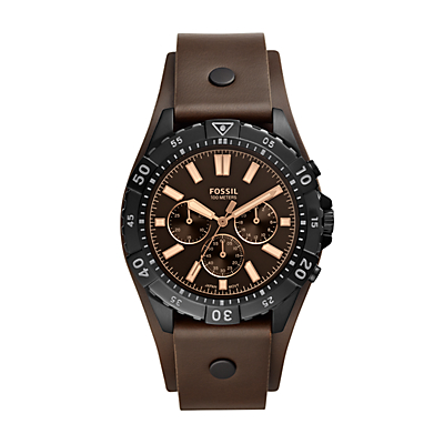 Garrett Chronograph Brown Leather Watch