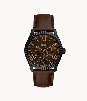 Chapman Multifunction Brown Leather Watch