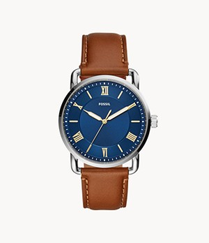 Copeland 42-mm Three-Hand Luggage Leather Watch