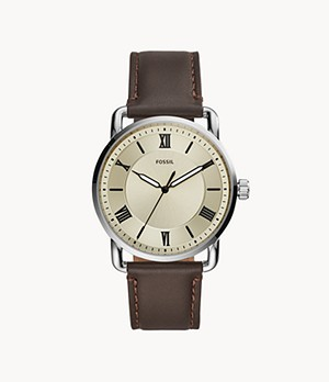 Copeland 42 mm Three-Hand Brown Leather Watch