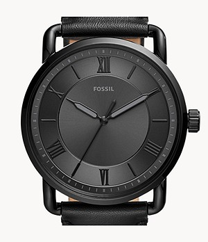 Copeland 42mm Three-Hand Black Leather Watch