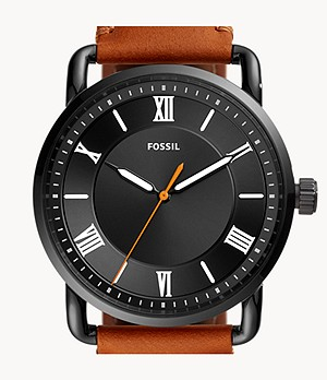 Copeland 42mm Three-Hand Luggage Leather Watch