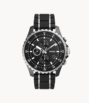 Dillinger Chronograph Two-Tone Stainless Steel and Silicone Watch