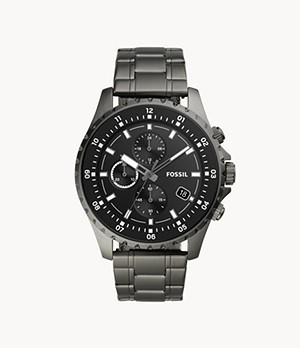 Dillinger Chronograph Smoke Stainless Steel Watch
