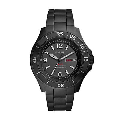 FB-02 Three-Hand Date Black Stainless Steel Watch