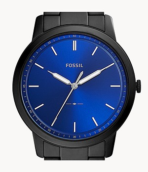 The Minimalist Three-Hand Black Stainless Steel Watch