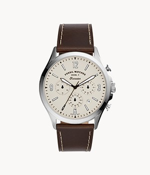 Forrester Chronograph Brown Leather Watch