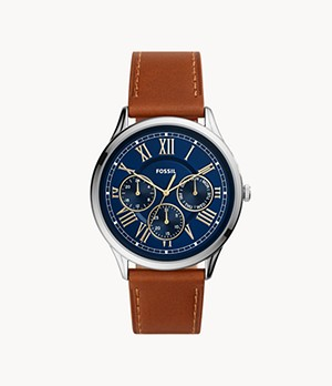 Pierce Multifunction Luggage Leather Watch