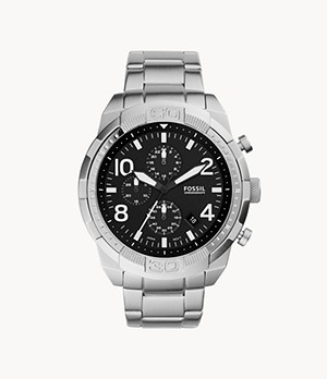 Bronson Chronograph Stainless Steel Watch