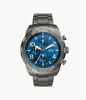 Bronson Chronograph Smoke Stainless Steel Watch